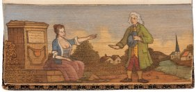 """Fore Edge Painting """"a Swain And His Lass"""""""