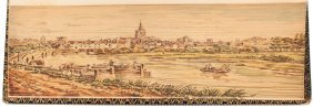 Fore-edge Painting Of Abingdon England