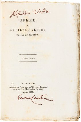 Volta's Copy Of Galileo