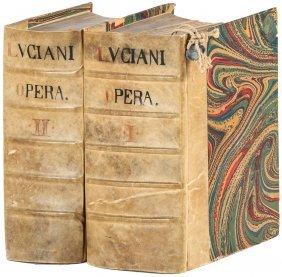 Lucian's Works, Scarce 1602 Greek-latin Edition