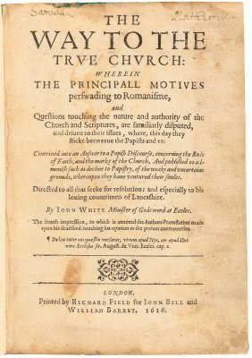 The Way To The True Church From Mather Family Library