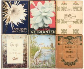 Six Volumes With Botanical Color Plates