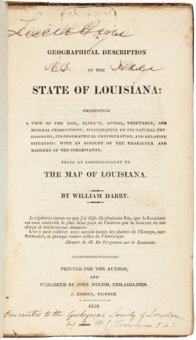 Account Of Louisiana 1816