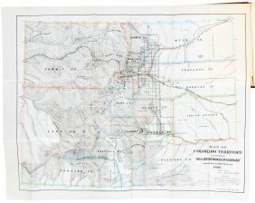 Mines Of Colorado 1867 With Map