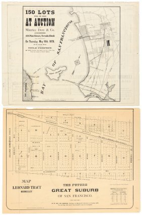Two Berkeley Real Estate Maps 1876-78
