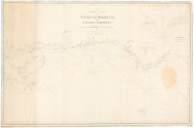 Chart Of Gulf Of Mexico Coast 1849