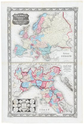 Rare Map Of Italian War 1859