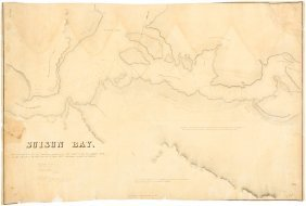 Rare Map Of Suisun Bay 1849