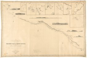 Chart Of West Coast Of Central America 1849