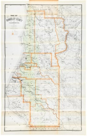 Scarce Map Of Humboldt Co., Cal. 1909