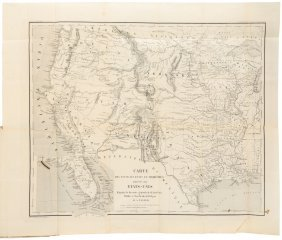 Tanner Map Of West 1852 In French Pamphet