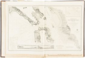 Atals Of Coast Survey Charts On Thick Paper C.1881