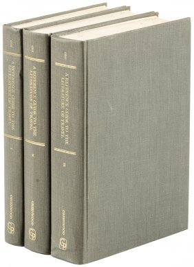 Literature Of Travel Reference In 3 Vols By Cox