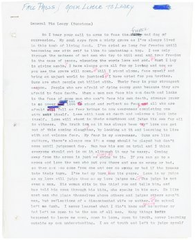 Charles Manson's Open Letter To Timothy Leary