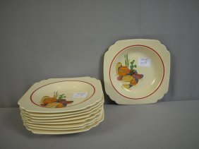 Fiesta Riviera Mexicanna Lot Of 9 Deep Plates