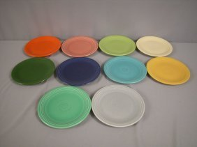 "Fiesta 7"" Plate Group - 10 Colors - Forest Green,"