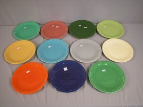 "Fiesta 9"" Plate Group - All 11 Colors - Medium Gr"