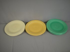 "Fiesta 10"" Plate Group - 3 Ivory, 2 Yellow And 3"
