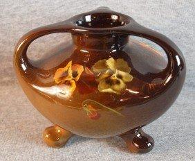 Weller Louwelsa Standard Glaze Art Pottery Tri-foo