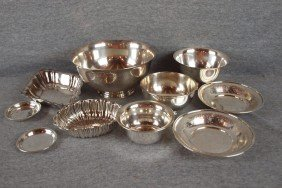 Sterling Silver Lot Of 10 Bowls And Trays, 46.4 Oz