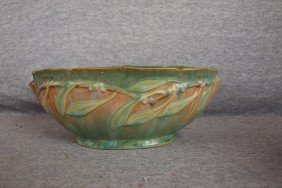 "Roseville Laurel Console Bowl, 4"" X 9 1/2"""