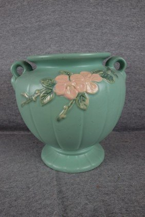 Weller Blossom Green Large Vase, 9 1/2""