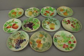 "St. Clement Set Of 11-8"" Fruit Plates"