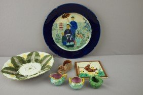 Majolica Lot Of 7 Pieces - Wedgwood Cauliflower B