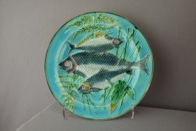 WEDGWOOD Turquoise Triple Fish And Fern Plate, 8
