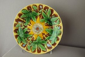"WEDGWOOD Passion Flower Majolica Plate, 8 3/4"", G"