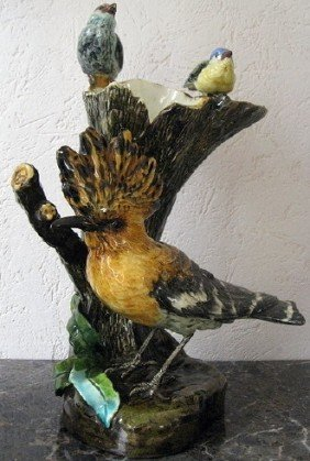 DELPHIN MASSIER Rare Figural Vase With A Hoopee B