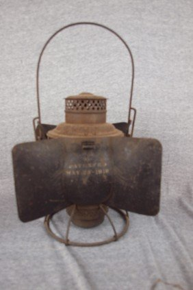 Adams & Westlake Railroad Lantern Embossed With PRR