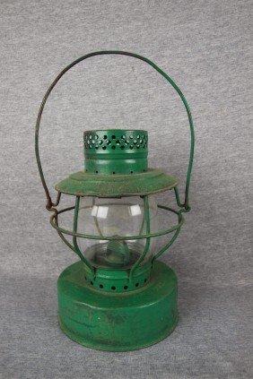 "Handlan Railroad Lantern Embossed ""Stolen From NEBR"
