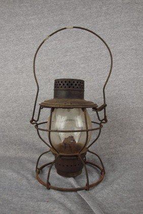 Handlan Railroad Lantern With Tall Clear Globed, Bo