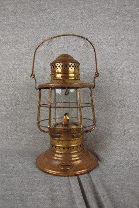 Brass Marine Lanter With Clear Globe