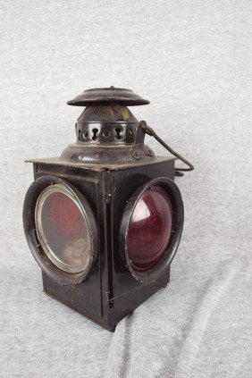 Dressel 4 Light Railroad Lamp With 2 Clear And 2 Re