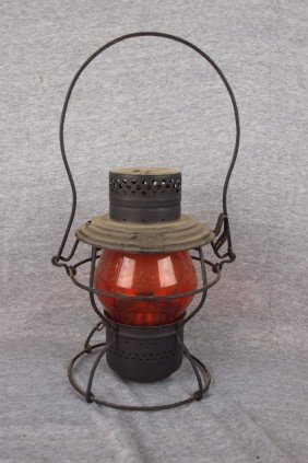 Handlan Railroad Lantern Embossed With PRR Logo Wi