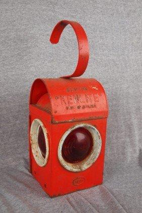 "Kenyon ""Kenlite"" English Railroad Lantern With 3 R"