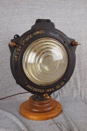 Crouse-Hinds Cast Iron Railroad Headlight, Pat'd M