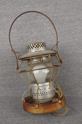 "Handlan Railroad Lantern Embossed ""B&ORR"" With Wei"