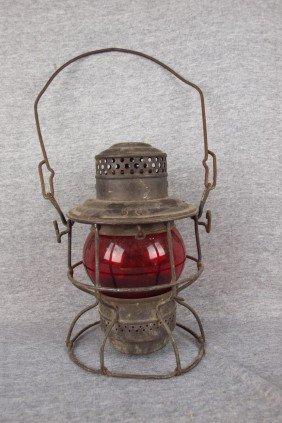 "Adams & Westlake Railroad Lantern Embossed ""CVTCO"""
