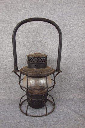 "Adams & Westlake Railroad Lantern Embossed ""MCRR"""