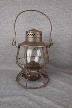 Keystone Lantern Co Railroad Lantern With Clear Gl