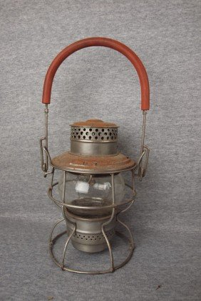 Adams And Westlake Railroad Lantern With Clear Glo