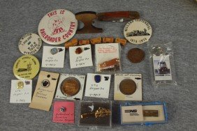 Lot Of 20 Assorted Railroad Pins And Souveniers