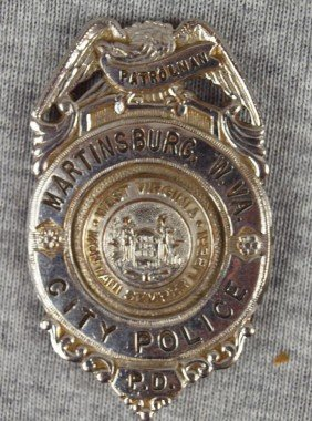 "Police Badge - ""Martinsburg, W. VA City Police Pat"