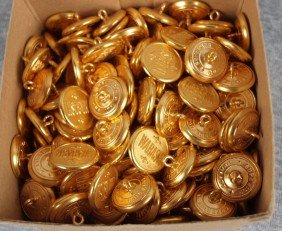 Box Of 200+/- Wabash Railroad Uniform Buttons