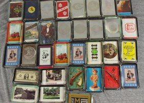 Lot Of 33 Glass Paperweights With Mixed Scenes
