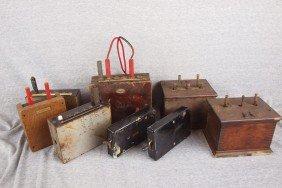 Lot Of 8 Railroad Telegraph And Telephone Swich Bo
