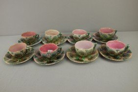 ETRUSCAN Lot Of 8 Shell And Seaweed Cups And Sauce